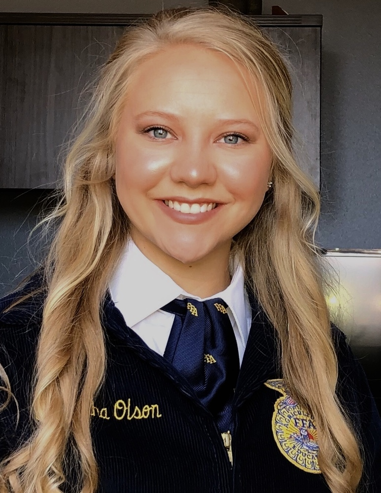 Samantha Olson Named SD State FFA President